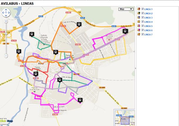 Autobuses urbanos de Ávila (Avilabus - Grupo Avanza) Lineasavilabus